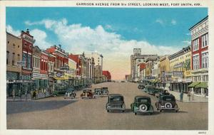 Garrison Avenue , FORT SMITH , Arkansas , 1930-40s