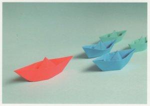 Toy Boats Gondolas Ship Origami Japanese Paper Folding Crafts Postcard