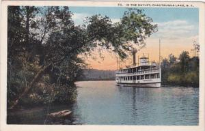 New York Chautauqua Lake Steamer At The Outlet