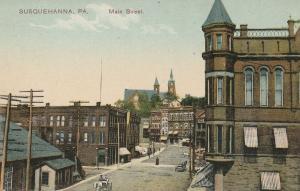 Susquehanna Pennsylvania~Main Street~Hotel Reddon~White Horse & Buggy~c1910 PCK