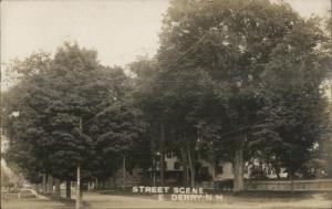 East Derry NH Street Scene c1910 Real Photo Postcard