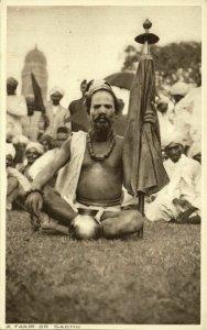 India, Fakir Faqir, Holy Man, Hindu Sadhu (1930s) Postcard