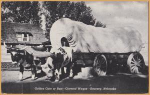 Kearney, Nebr., Golden Gate or Bust, Covered Wagon - 1947