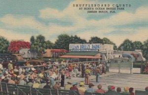 JENSEN BEACH, Florida , 30-40s ; Shuffleboard  Courts at Hoke's Ocean Breeze ...