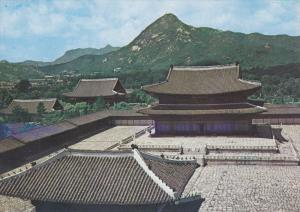 Geunjeong-jeon Hall at Gyeongbog Palace, SEOUL, South Korea, 50-70's