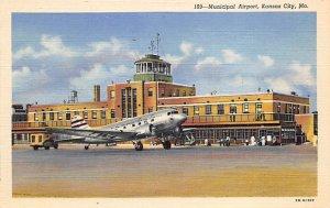 Municipal airport Kansas City, Missouri, USA Airplane Unused