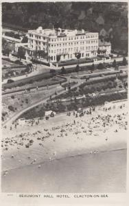 Clacton On Sea 1950s Beamont Hall Hotel From Plane RPC Ariel Postcard