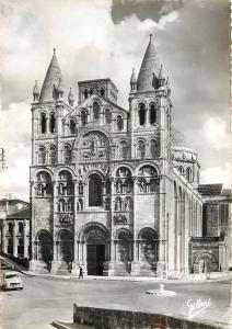 France Angouleme Cathedrale St Pierre Romane Cathedral RPPC Postcard