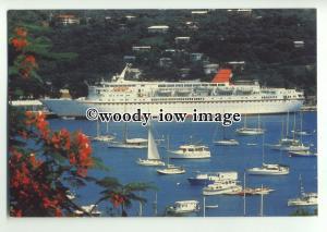 LN0188 - Cunard Liner - Cunard Countess , built 1976 - postcard