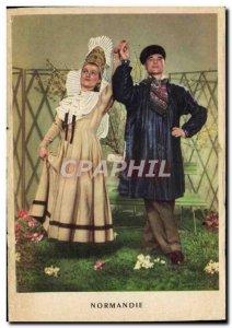 Postcard Old Normandy St Valery en Caux Folk Costumes