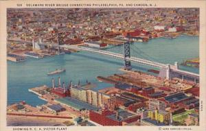 Pennsylvania Delaware River Bridge Connecting Philadelphia & Camden New J...