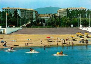 Marbella Hotel Andalucia Plaza Postcard Costa del Sol Panoramic View beach boats