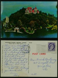 Boldt Castle aerial view Thousand Islands  1962