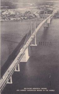 Delaware Memorial Suspension Bridge - pm 1955
