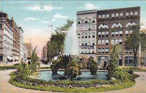 Michigan Detroit Fountain Capitol Square Park 1909