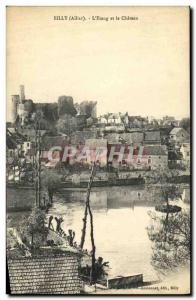 Old Postcard Billy The Pond and the Castle