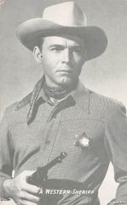 Western Sheriff Western Actor Mutoscope Unused