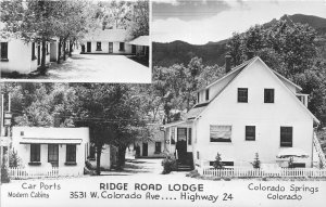 G23/ Colorado Springs RPPC Postcard c1950s Ridge Road Lodge Cabins