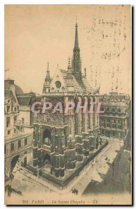 Old Postcard Paris Holy Chapel