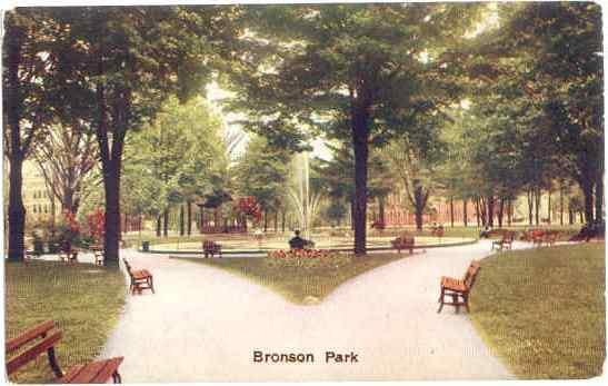 Bronson Park, Kalamazoo, Michigan, MI, Divided Back