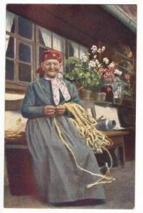 Old woman, Strohflechterin, Swarzwald, Germany, 00-10s