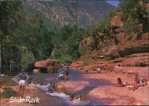 slide rock oak creek canyon Arizona postcard