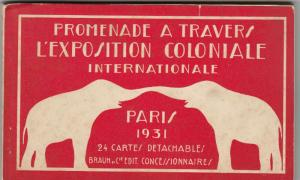PARIS ; 1931 Exposition Coloniale Internationale; 24 postcard booklet