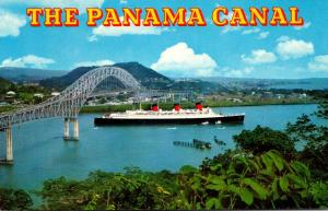 Panama Canal R M S Queen Mary Passing Under The Bridge Of The Americas