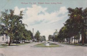 Indiana Michigan City Wabash Street Looking North