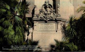 California San Diego Panama-California Expo Fray Junipero Serra Tablet On Var...
