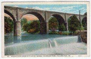 Philadelphia, Pa, Wissahickon Creek At P & R Ry Bridge, Fairmount Park