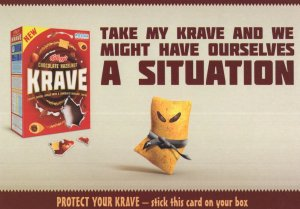Kellogs Krave Chocolate Cereal Advertising Postcard