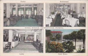 Florida Jacksonville Hotel Windle Interior Views 1927