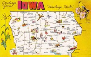 Greetings From Iowa With Map
