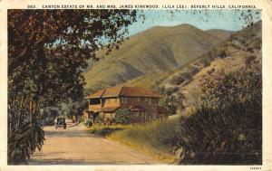 Beverly Hills California Canyon Estate Street View Antique Postcard K51137