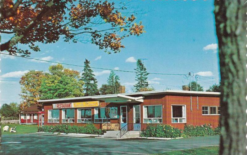 Restaurant La Nouvelle France, Riviere Du Loup, Quebec, Canada, 40-60s