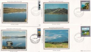 Beautiful New Zealand 4x Landscape Benham First Day Cover s
