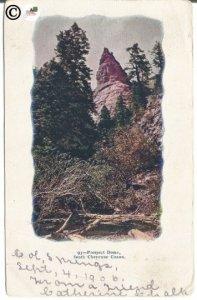 Prospect Dome South Cheyenne Canon 1906 Undivided Back Postcard Vintage Postcard
