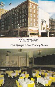 SALT LAKE CITY, Utah, 1940-60s; 2-Views, Temple View D.R., Temple Square Hotel