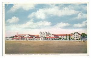 1933 The Alvarado, Fred Harvey Hotel, Albuquerque, NM Postcard *1609H