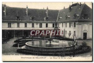 Postcard Old Carthusian Selignat The Court and the water jet