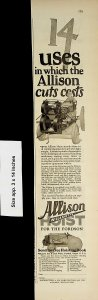1926 Allison Willamette Hoisting Book Fordson Vintage Print Ad 4505