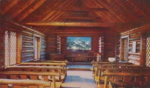 Interior View Chapel Of The Transfiguration Moose Wyoming