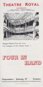 Four In Hand Michael Brett Rare Theatre Royal Margate Kent Programme