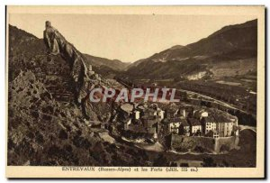 Old Postcard Entrevaux And Forts