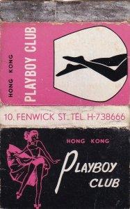 Playboy Risque Adult Club Hong Kong Advertising Matchbox Cover