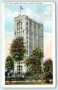 DETROIT, Michigan MI ~ R.H. FYFE COMPANY Temple of Shoes 1926  Postcard