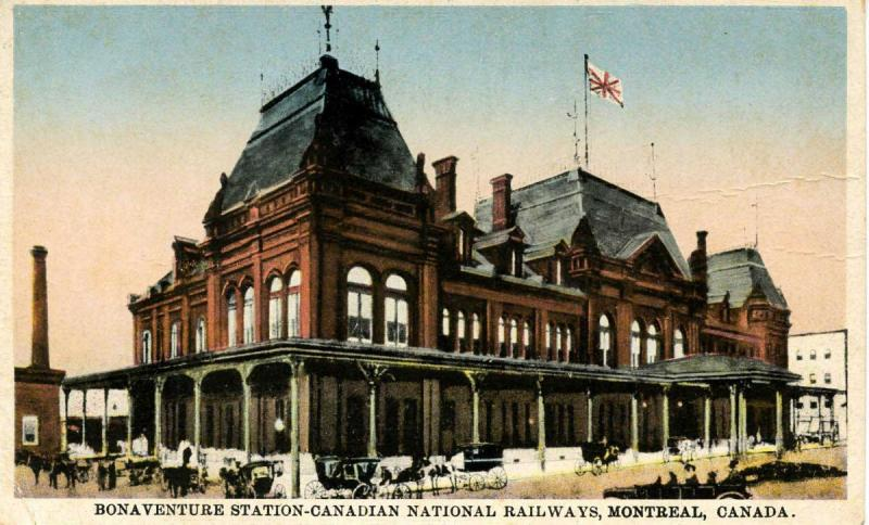 Canada - Quebec, Montreal. Bonaventure Railway Station, Canadian National Rwy