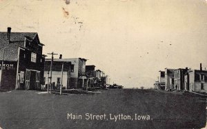 LPS61 LYTTON Iowa Main Street Town View Postcard