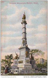 Soldiers Monument Boston Massachusetts